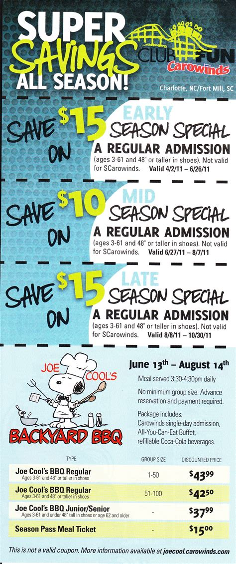 theme park coupons theme park discounts coupons deals for 2011 the