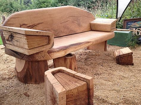 bench reading commissions oak reading bench chainsaw carving sculpture