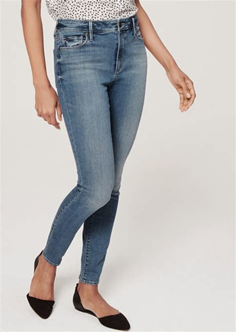 Highwaist P2 loft curvy high waist ankle in palette blue wash denim shop it to me