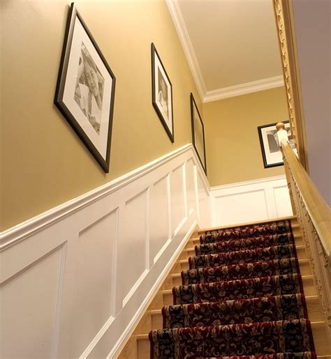 wainscoting panels up stairs anyone install wainscoting up a stairway nasioc