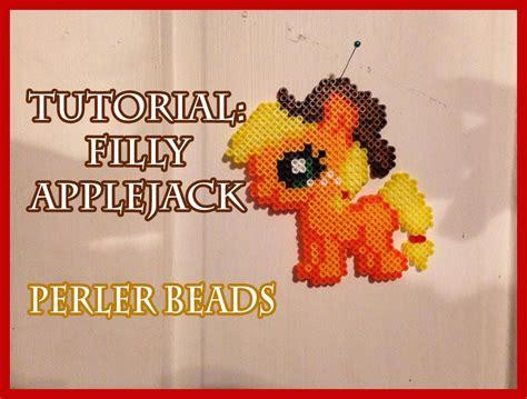 perler tutorial tutorial filly applejack my pony perler