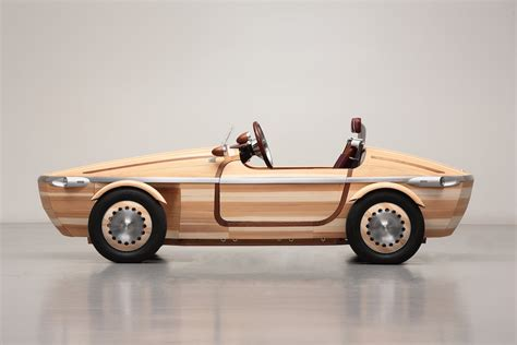 wooden car toyota s wood concept car can drive business insider