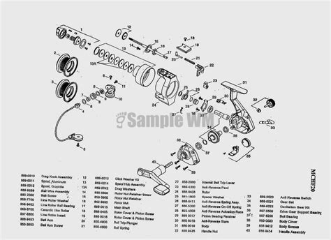 fishing reel parts diagram mitchell mitchell copperhead mchf20 mikes reel repair
