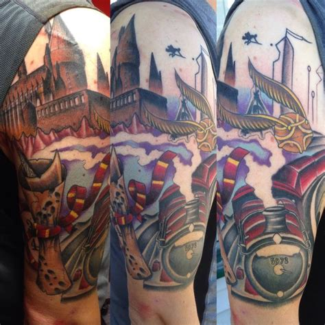 session 3 harry potter sleeve tatuering pinterest