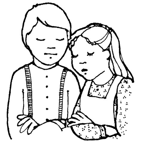 lds coloring pages praying mormon share pioneer children praying lds clipart