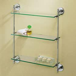 triple glass shelf bathroom premier chrome triple glass shelf gatco wall mounted shelving bathroom racks