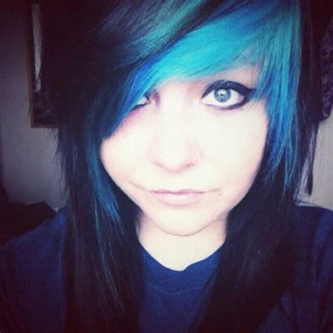 emo haircuts for black hair emo girl blue and black hair scene emo hair pinterest