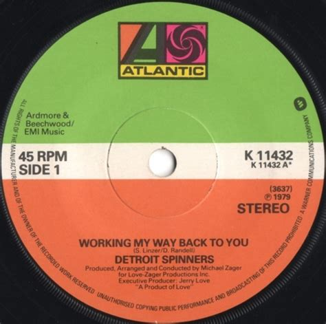 working my way back to you spinners mp3 download soul funk rnb 60s cd vinyl maxi 33t 45t en vente sur