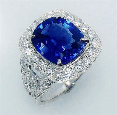 martini sapphire vintage cocktail rings 1 20ct blue sapphire 4 02ct