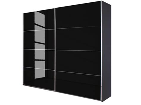 quartz sliding door wardrobe in black glass grey