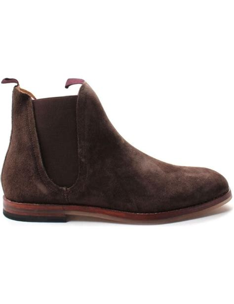 hudson ter s suede chelsea boot brown