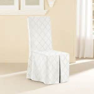 Dining Room Chair Slipcovers White Sure Fit Durham Dining Room Chair Slipcover White Ebay