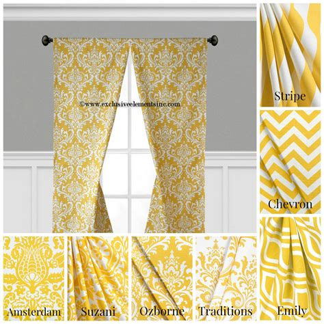 modern yellow curtains modern yellow curtain panels modern geometric chevron damask