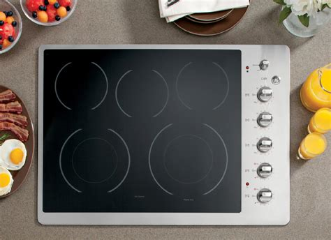 stainless steel cooktop electric ge caf 233 cp350stss 30 quot electric cooktop stainless