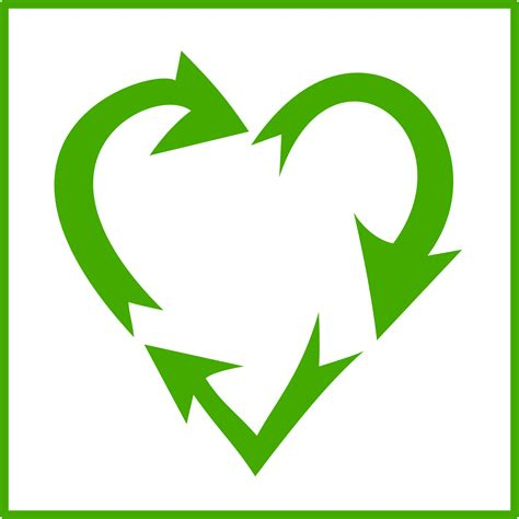 art of recycle clipart recycle heart