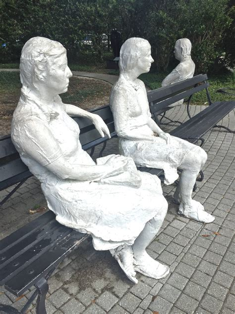 george segal three figures and four benches if you dare noma s galleries and garden include frightful encounters for halloween