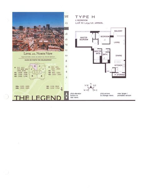 floor plan legend the legend floor plan level 12 north view type h