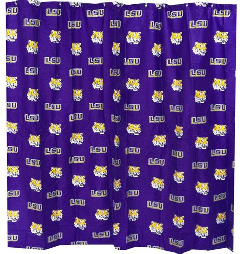 lsu shower curtain ncaa louisiana state tigers shower curtain lsu bathroom