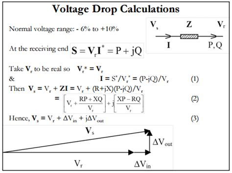 drop voltage resistor calculator power transmission lines voltage drop electrical engineering stack exchange
