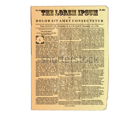 Vintage Newspaper Template newspaper template 20 jpg psd format free premium templates