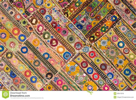 indian patchwork carpet stock photo image of asia color