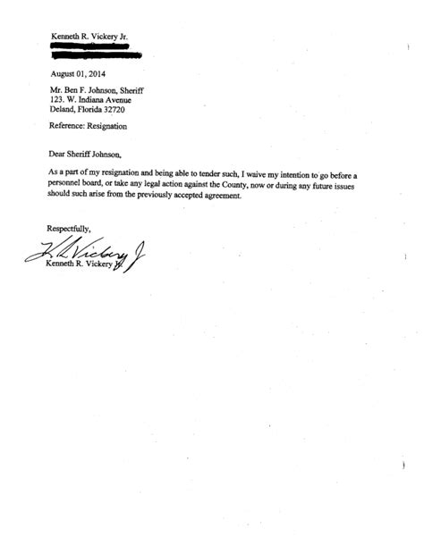 Resignation Letter Correctional Officer Volusia Exposed