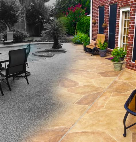 Backyard Paver Patio Resurface Your Concrete Pool Deck With Carvestone By