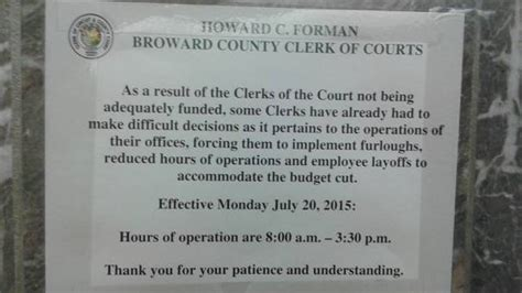 Broward County Clerk Of The Court Search Exposes Broward Clerk Of Courts Cuts South