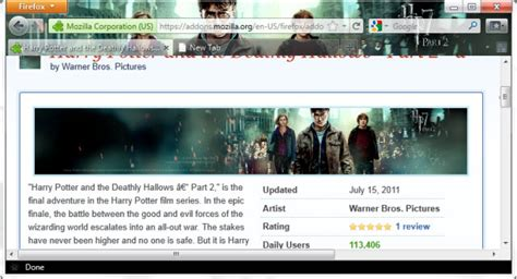 mozilla firefox themes transformers 6 best movie themes for firefox 6 themes download