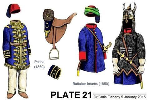 Ottoman Generals Ottoman Turkish Uniforms Insignia Crimea Crimean Ottoman Generals Crimean War