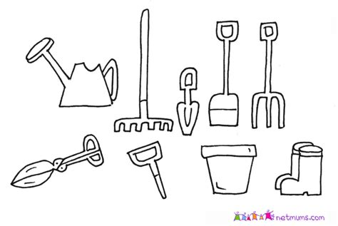 garden hoe coloring page garden tools with pictures garden design ideas garden hoe