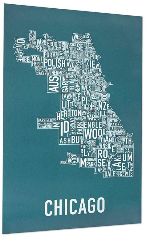 chicago neighborhood map poster chicago neighborhood map poster by ork posters by orkposters