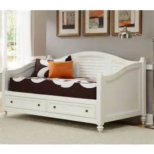 marvelous Daybeds With Storage Drawers #1: Bermuda-Brushed-White-Finish-Twin-size-DayBed-L14270802.jpg