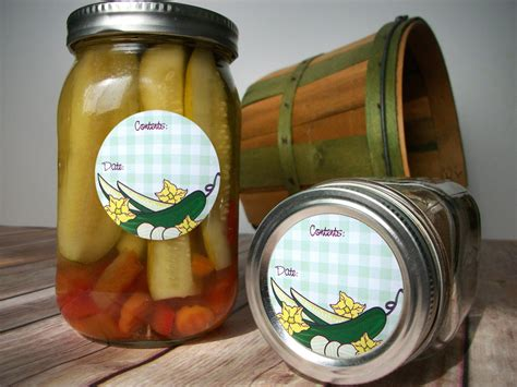 Pickle Canning Labels pickle canning labels for home preserved fermented