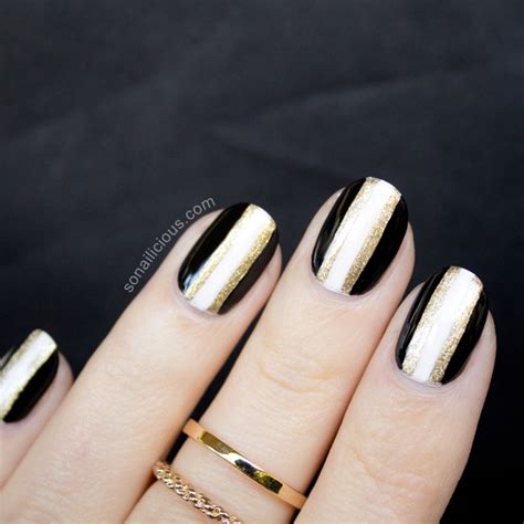 nail of new year black and gold new years nails 2013 version