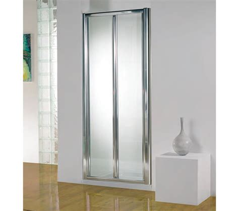 Bi Fold Shower Door 800mm Kudos Original 800mm White Bi Fold Shower Door With Tray And Waste