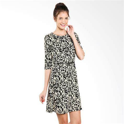 Dress Hitam Bunga jual dress hitam motif bunga cek harga di pricearea