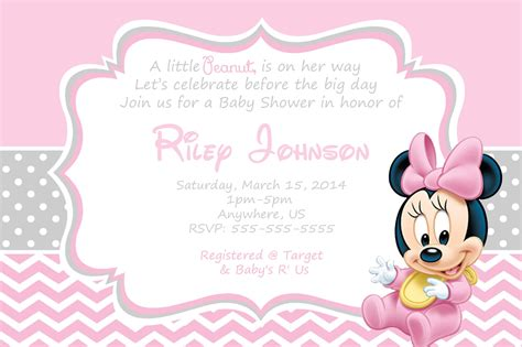 Baby Invitations by Baby Minnie Mouse Baby Shower Invitations