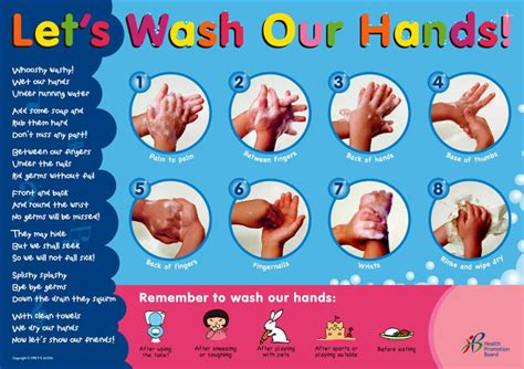 handwashing poster  health promotion board   age