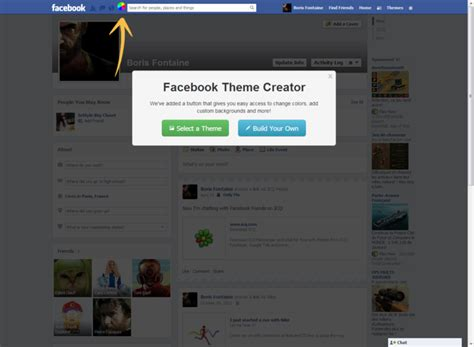 facebook themes website facebook theme creator free download