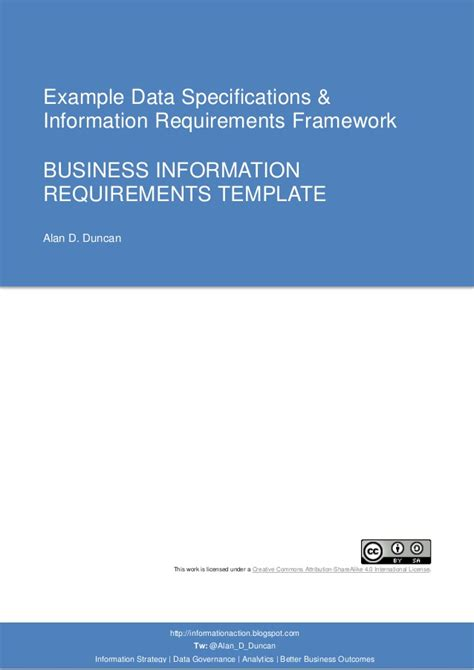 business intelligence requirements template 03 business information requirements template