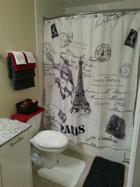 paris france bathroom decor paris themed shower curtain office and bedroom