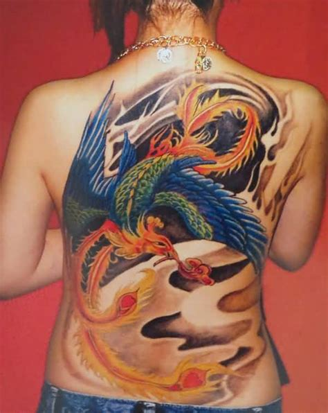 phoenix tattoo cover up girl back cover up with awesome flying phoenix tattoo