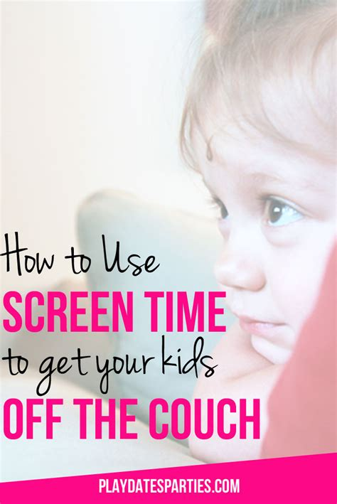 off the couch how to use screen time to get kids off the couch
