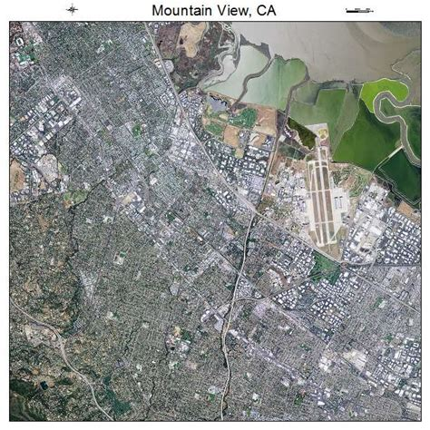 where is mountain view california on the map aerial photography map of mountain view ca california
