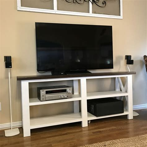 tv console table homemeade tv console table console table build corner