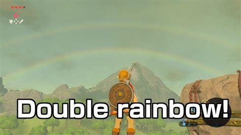 Double Rainbow Meme - double rainbow the legend of zelda breath of the wild