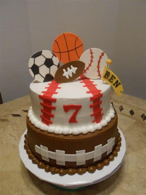 bens sports birthday cake cakecentralcom