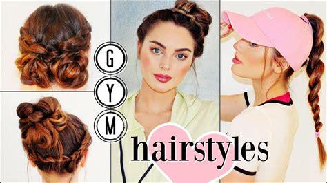 hairstyles for long hair gymnastics gym hairstyles for long hair sporty hair hacks youtube