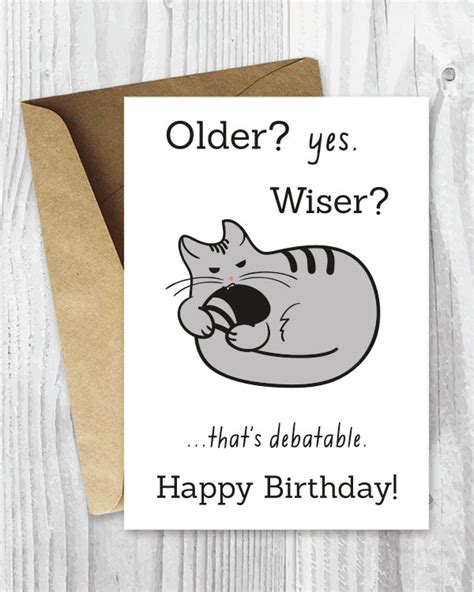 printable birthday cards etsy happy birthday cards funny printable birthday cards funny